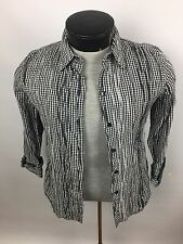 Foxcroft Women's Blouse~Size 8 Fitted~Wrinkle Free Non Iron Cotton Blend