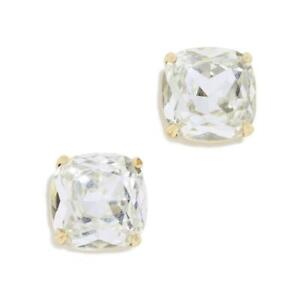 NWT KATE SPADE SQUARE STUD EARRINGS $38 CLEAR GOLD
