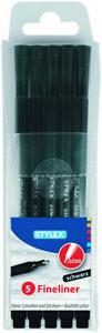 5 x Fineliner  0,4 mm Filzstift Set Tintenschreiber für Schule Büro Fasermaler