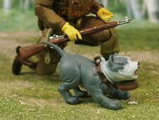 Hood Hounds Ruger Gray Pit Bull Dog 1:18 GI Joe Size Cake Topper Figure K1285 L