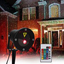 Etanche LED Projecteur Laser Lumière Éclairage Lampe Pr Pelouse Jardin Déco Noël