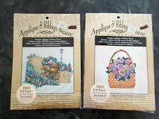 LOT OF 2 APPLIQUE & RIBBON WEAVE WEARABLE CRAFT KITS - STAN RISING PRODUCT