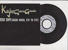 ♫ KAJAGOOGOO  ♫  TOO SHY  ( eye to eye ) ♫  45 tr 1983  Pathé EMI 07700. tube.