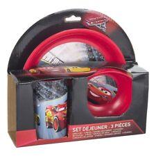 Disney Cars 3 Lightning McQueen Frühstückset 3 Teilig Becher Teller Schüssel