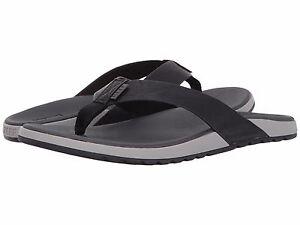 Men's Shoes Reef Contoured Voyage Flip Flop Sandals RF0A32XN Grey Black