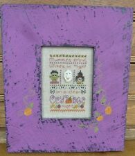 October: A Year In Stitches Cross Stitch Chart w/Button by Shepherd's Bush