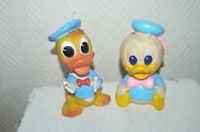LOT 2 FIGURINE POUET  DONALD   ARCO  DISNEY FIGURE VINTAGE 1984
