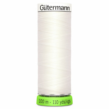 Gutermann Off White Ivory Sewing Thread 1 X 100m ECO rPET Recycled