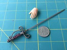 "1:6 Scale  ""Fancy Rapier"" Sword Custom Steel Miniature By Auret"