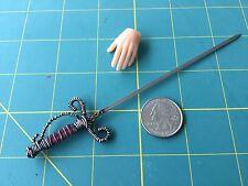 """1:6 Scale  """"Fancy Rapier"""" Sword Custom Steel Miniature By Auret"""