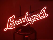 Leinenkugels Beer Red Glass Neon Light Sign with Pull Cord