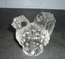 Swedish Pukeberg Scandinavian Crystal Chicken Cockerel Figurine Paper Weight