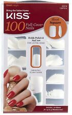 New Kiss 100 Full Cover Nails Short Square Length (100 ct) 20019