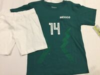 ec1499fb438 2018 MEXICO SOCCER FIFA WORLD CUP #14 CHICHARITO SHORTS & SHIRT JERSEY BOYS  ...