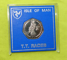 More details for 2004 isle of man iom tt 50p coin very rare unc manx trophy. cased aa die