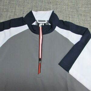 FOOTJOY 1/4 ZIP POLY SHORT SLEEVE GOLF PULLOVER--L--EXCEPTIONAL SPOTLESS QUALITY