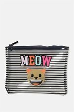 EMOJI MEOW cat TRAVEL pouch PENCIL CASE pen KIDS BRAND NEW school stationary