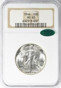 1944 Liberty Walking Liberty Half Dollar - NGC MS-65 CAC - Mint State 65 CAC