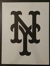 "New York Mets NY 8.5"" x 11"" Custom Stencil FAST FREE SHIPPING"