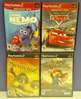 Disney Cars Nemo Shrek Tale Despereaux Mouse PS2 Playstation 2 COMPLETE Game Lot