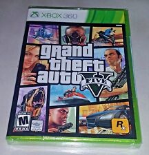NEW Grand Theft Auto V 5 for Xbox 360 GTA Game Brand New & Sealed FREE SHIPPING