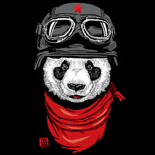 THE HAPPY ADVENTURER Red Star Panda Bear Pilot Chu Artwork NEW TEEFURY T-SHIRT
