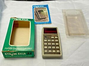 Vintage Texas Instruments Exactra 22 Calculator Untested Original Box Guide