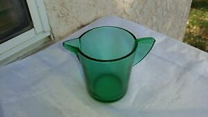 """Akro Agate Stippled Band Green Small Size Teapot  """"No Lid"""""""