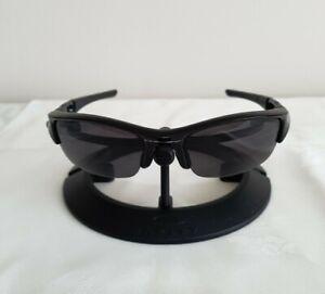 Oakley Vintage Flak Jacket Sunglasses Black Frame - Black Polarized Lenses