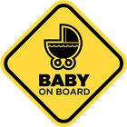 Baby On Board Yellow Diamond Funny Shapes Car Child Children Window Sticker