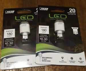 LOT of 2 Feit 2.5w replaces 20W Wedge LED Landscape lighting bulbs