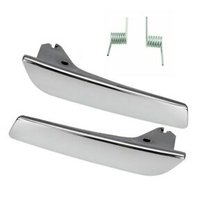 Inside Door Pull Handles Chrome Pair Front / Rear for 07-13 Suburban Tahoe Yukon