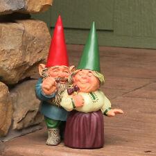 Sunnydaze Arnold and Sarah Gnome Statue - Outdoor Lawn and Garden Decor -