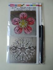 STAMPENDOUS STENCIL DUO WITH PEN AND CARDS FMSD103 BNIP *LOOK*
