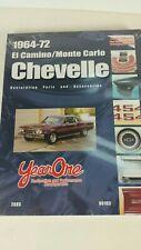 2003 Year One 1964-72 El Camino Monte Carlo Chevelle Parts Restoration Book New!