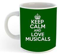 Keep Calm And Love Musicals  Mug - Green