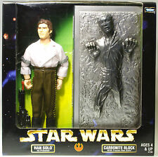 """MIB STAR WARS 12"""" Action Collection Han Solo w/ in Carbonite Block POTF ROTJ"""