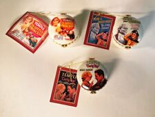 Set of 3 PHBs Porcelain Hinged Boxes - Shirley Temple