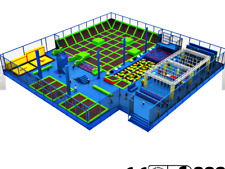 6,000 sqft Commercial Trampoline Park Ninja Course Climbing Wall Gym We Finance