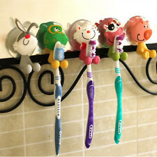Cute Silicone Kids Toothbrush Holder Suction Sucker Toilet Wall Sticker Hook New