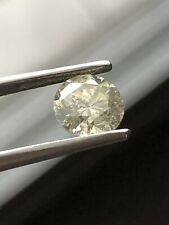 1.04 Cts EGS / EGL CERTIFIED, NATURAL COLOR & CLARITY LIGHT YELLOW ROUND DIAMOND