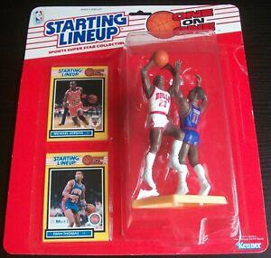 1989 Michael Jordan Chicago Bulls One on One Isiah Thomas Starting Lineup SLU