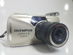 OLYMPUS U mju-II ZOOM 80 DLX  AUTO FOCUS 35 mm Film Camera