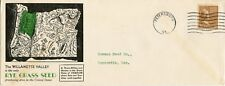 U.S. Scott 805 1.5 Cent Prexie Solo on 3rd Class 2-Sided Rye Grass Ad Cover