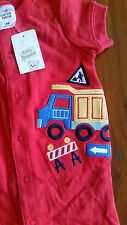 Target babies red Truck embroidered sleep suit cotton sz00 BNWT free post D81