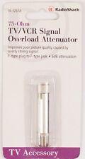 75-Ohm TV/VCR In-Line Signal Overload Attenuator Female F Jack to Male F Plug