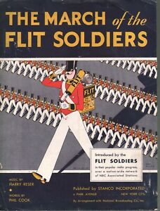 March of the Flit Soldiers 1929 Advertising Flit Bug Spray Sheet Music