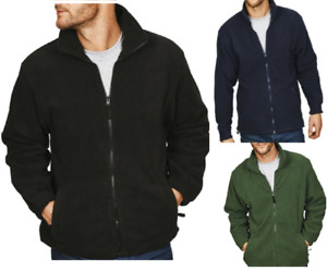 Mens Polar Thick ANTI PILL Jackets Fleece FULL ZIP Casual Warm Work Wear S-4XL
