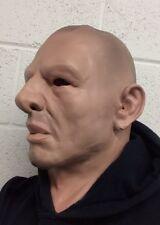 Realista masculino calvos duro hombre ladrón máscara de cara humana soldado de máscaras de látex