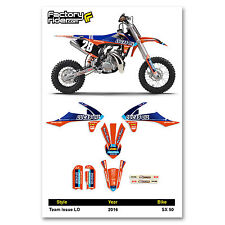 2016 KTM SX 50 Team Issue LO Motocross Graphics Dirt Bike Graphic Decal